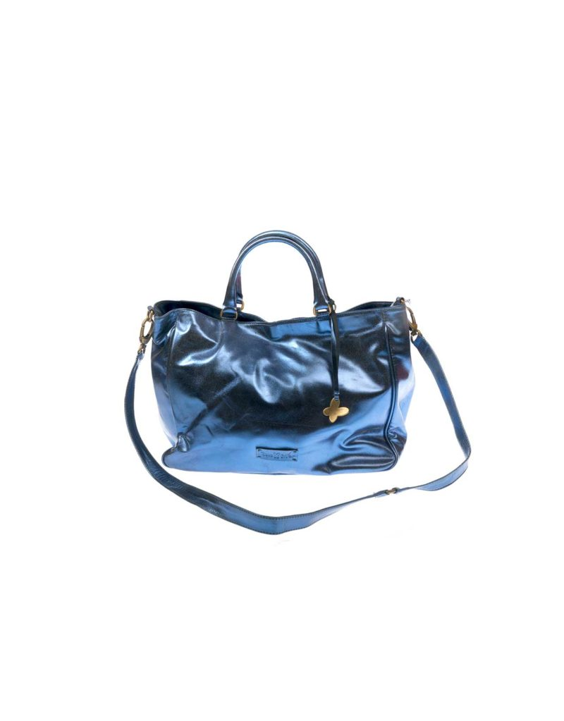 BABA CRIFER BLUE LEATHER BAG