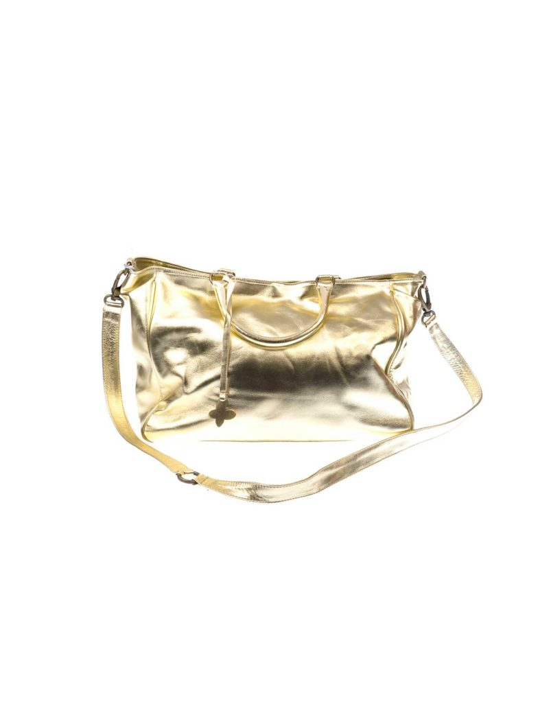 BABA CRIFER GOLD LEATHER BAG 1
