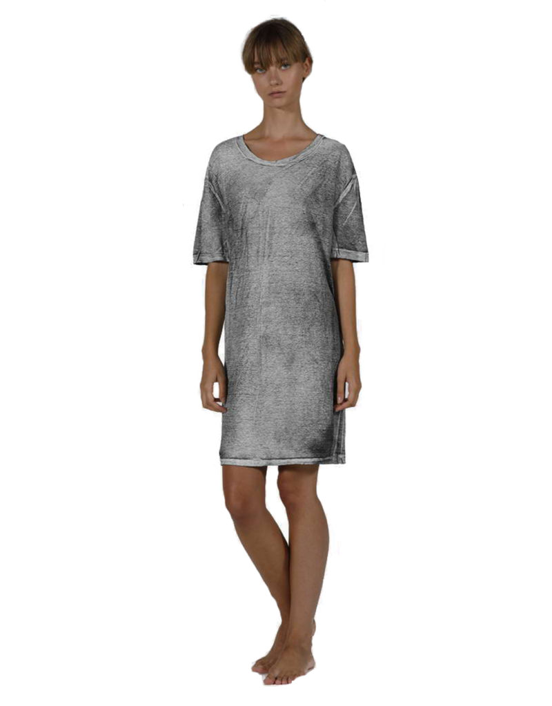 LINEN DARK GREY DRESS 3